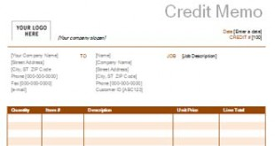 Credit Memo With Rust Design  Credit Memo Sample