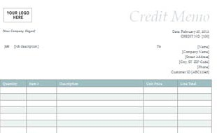 Credit-Memo-with-Simple-Blue-Design-thumb