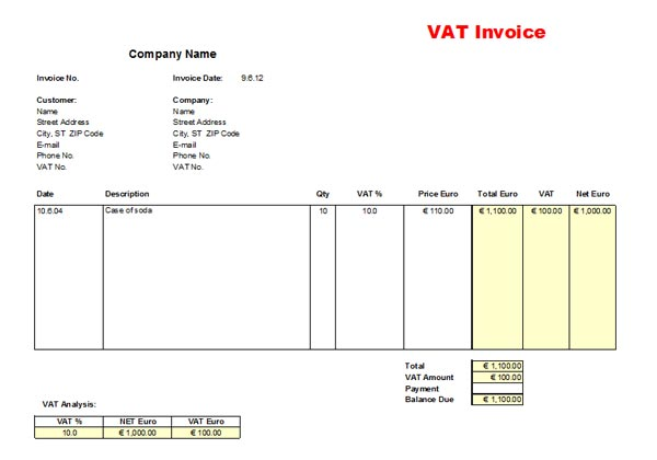 VAT-invoice-template-price-including-tax