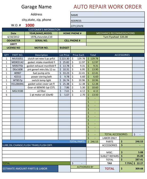 auto-repair-work-order-template