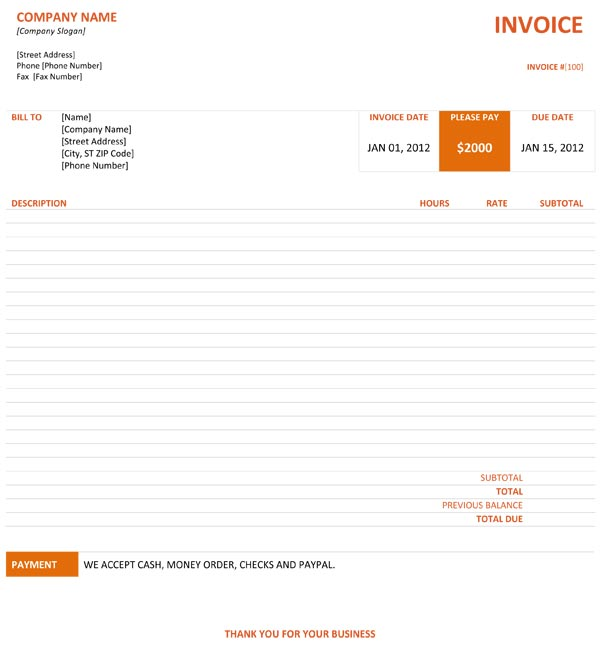 26 Professional Graphic Design Invoice Templates - Demplates