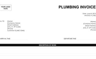 Invoice Template - Plumbing invoice template