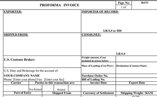 proforma invoice template, Invoice examples