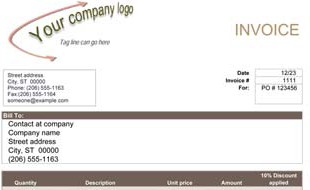 invoice template - download free invoice templates, Invoice examples