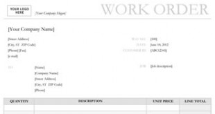 repair order forms templates